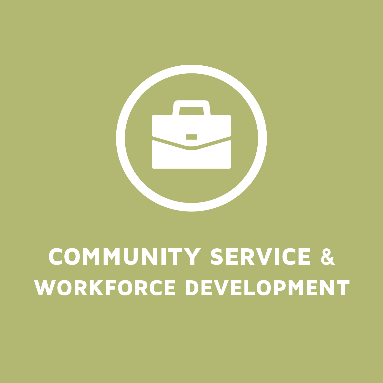 Community Services and Workforce Development
