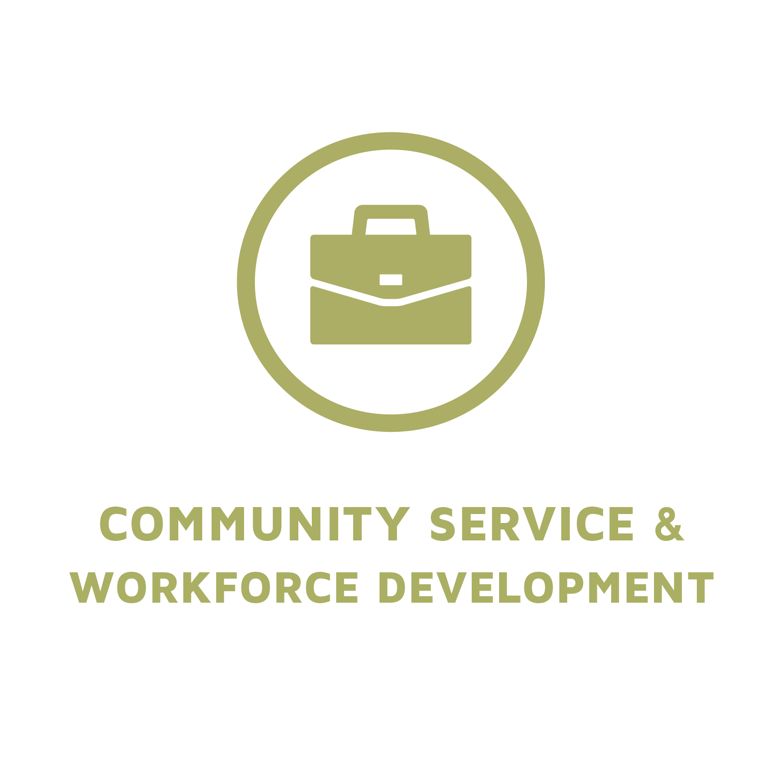 Community Service and Workforce Development Tile