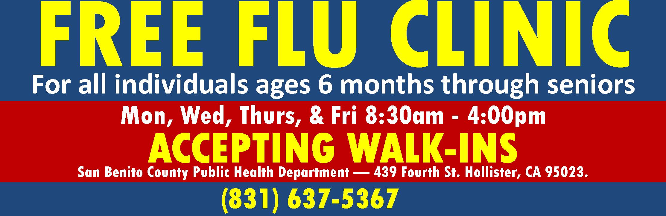 Free flu clinic PUBH