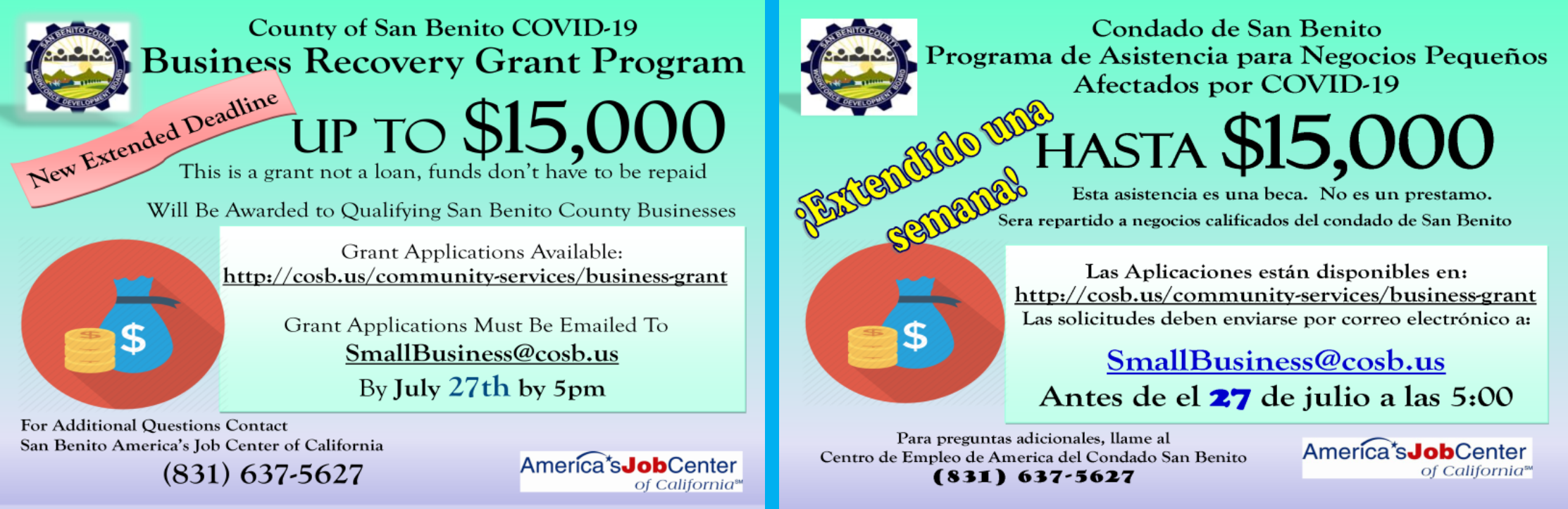 Update Small Business Grant Flyer
